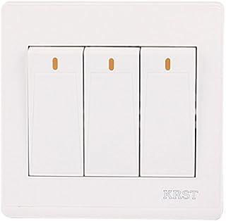 DealMux On / Off Pressione o botão 3 Gang 2 Way Wall Switch Início luz de