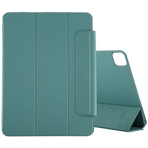 Funda Protectora para iPad para iPad Pro 11 Pulgadas (2020) Caja de Cuero magnética de PU de PU de Flip Ultra Delgada Horizontal con un Soporte de Tres Plegables y la función de suspensión/despertad