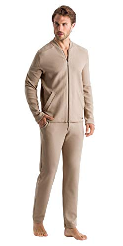 Hanro Herren Dumal Zip Jacket Pyjama-Oberteil (Top), Sahara, X-Groß