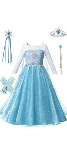 Ice Princess Costume Dress Set for Girls