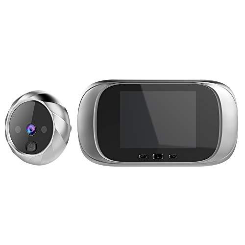 SODIAL Visualizzatore Telecamera per Porta con Sensore di Movimento per Visione Notturna con Spioncino Elettronico Un Schermo LCD Un Colori da 2,8 Pollici, Argento