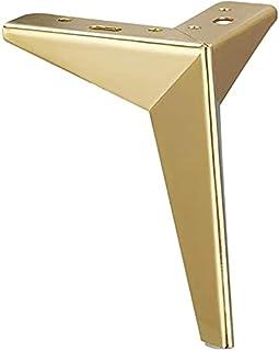 13 cm metalen meubelpoten, belastbaar tot 800 kg, 4 stuks metaal diamant driehoek tafelpoten kastpoten DIY vervanging meub...