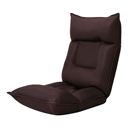 BLWX LY-rug- en zitkussen Compact Lounge slaapbank stoel, moderne eenvoud opvouwbare zachte Low Floor stoel, meditatiekussen, 42 posities verstelbaar