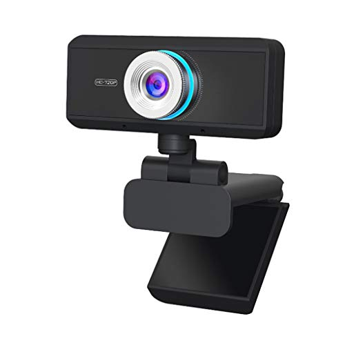 Nivkuio webcamera, USB, Full HD, 1080P, gezichtsveld 90°, autofocus, helder stereo-geluid, compensatie, HD-webcams, voor Skype, Zoom, PC/laptop/tablet