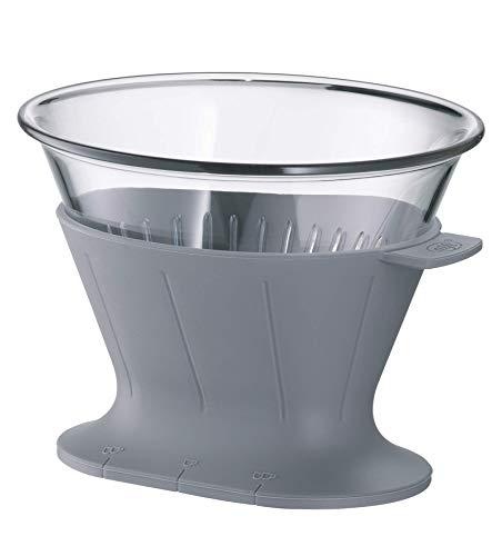 alfi Kaffeefilter Tritan Größe 4, Handfilter Kaffee für Thermoskanne oder Tasse grau, 0095.218.002 wiederverwendbare Kaffeefilter, Kaffee direkt in die Isolierkanne oder Kaffeetasse filtern