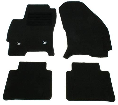 AD Tuning HG0670 Velours Fußmatten Set (4-teilig) Schwarz Passform Autoteppiche