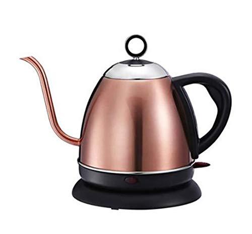 XYY Gooseneck Wasserkocher, Quiet Boil Kettle 1L Edelstahl Wasserkocher Wasserkocher große Kapazitäts-Teekanne Temperaturregelung Elektrische Wasserkocher Silikon Griff