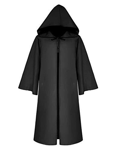 VERNASSA Disfraz de Halloween Cosplay Costume Disfraces Medieval Vendimia Estilo Gótico,Largo Capa con Capucha para Mujeres Hombres