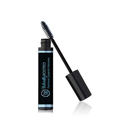 Premium Organic Mascara, Black- 100% Natural - 85% Organic - Enriched with Chamomile & Sunflower Oil - Paraben & Gluten Free, Vegan - Strengthens & Moisturizes - Great for Sensitive Eyes - Made in USA