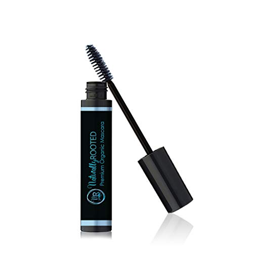 Premium Organic Mascara, Black | Natural | 85% Organic | Enriched with Chamomile and Sunflower Oil | Paraben Free and Gluten Free | Strengthens and Moisturizes | Great for Sensitive Eyes | Made in USA