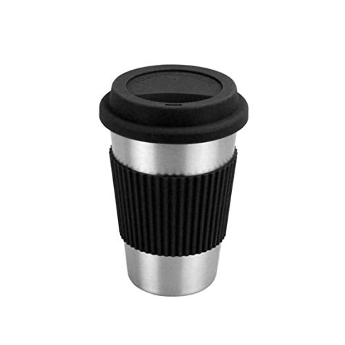 Rurah Portable Coffee Cup with Stainless Steel Double Wall Lid Tea Milk Vacuum Flask Thermos Cups