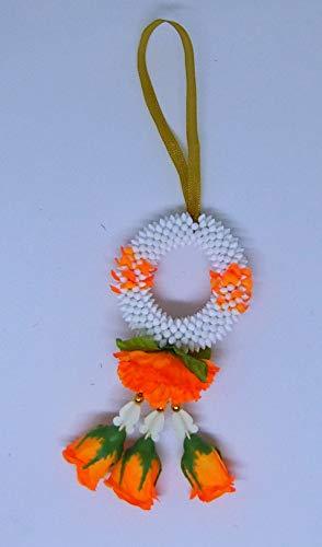"""FUSAP Thai Rose Jasmine Garland Fabric Flowers- Dia 3"""" (Orange)"""