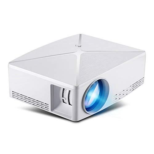 HongLianRiven Draagbare videoprojector met HD-ondersteuning en zwart-witopties - geschikt voor verschillende gelegenheden in huis - 19x16x7cm 12-12, Kleur: wit