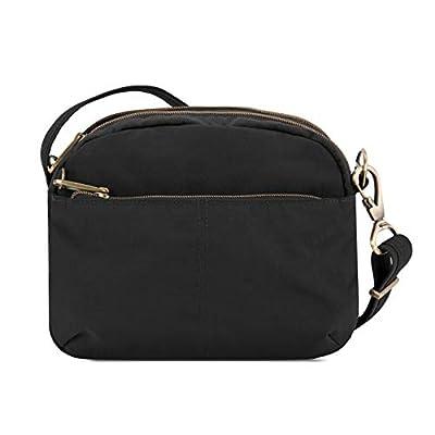 Travelon Anti-theft Signature E/W Shoulder Bag, Black
