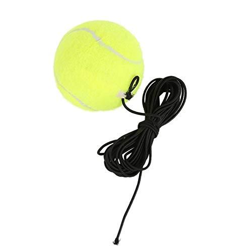 kaakaeu Single Training Tennisball Elastic Rubber Band Ball für Anfänger Daily Training Fortgeschrittenes Training mit Gürtel Line Cord Tool, mehrfarbig