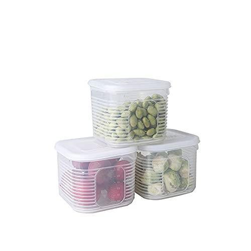 PANCHEN Gitter Kühlschrank Food Aufbewahrungsbox Kunststoff Küche Transparent Lebensmittel Aufbewahrungsbox Stall EIS Pulver Inhaltsstoff Aufbewahrungsbox (Color : B)