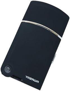 ヤザワ トラベルUSBシェーバー USB充電式 掃除用ブラシ付き TVR08BK