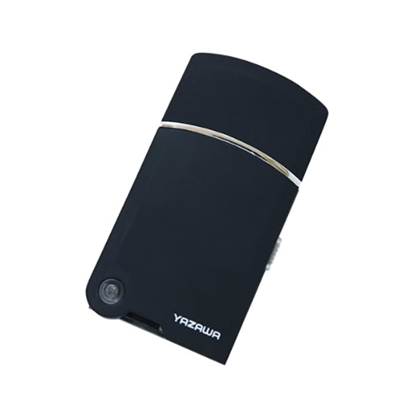 前任者唯物論立方体ヤザワ トラベルUSBシェーバー USB充電式 掃除用ブラシ付き TVR08BK