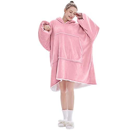 Lushforest Hoodie Sweatshirt, Damen Kapuzenpullover, Riesen-Sweatshirt, Super weich und bequem, Geeignet für Erwachsene, Männer, Frauen, Jugendliche (Hell-Pink)