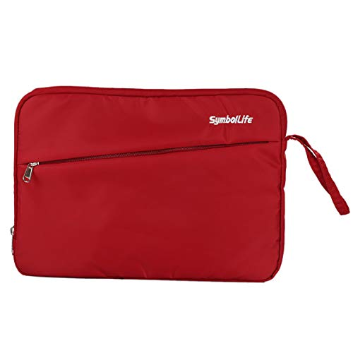 Funda protectora para computadora portátil para tableta portátil Bolsa repelente al agua con bolsillo para accesorios Compatible para de 12 pulgadas/MacBook/Dell/Lenovo/HP/SAMSUNG (12 Inch, Rojo)