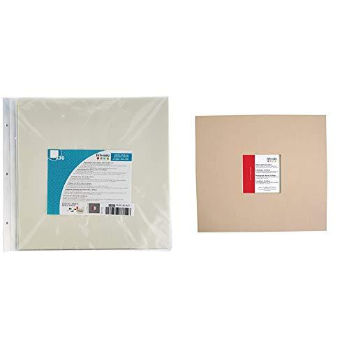 Artemio 11010039 Pochettes transparentes album photo 30,5 x 30,5 cm-30 feuilles & 11010009 ALBUM SCRAPBOOKING 30X30 CM BEIGE