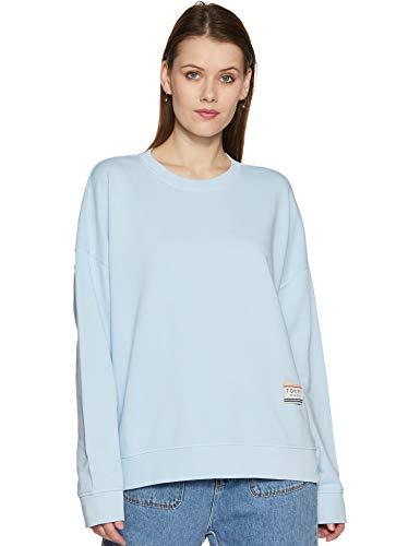 Tommy Hilfiger Women's Cotton Sweatshirt (A9AWH114M_Cerulean_Medium)