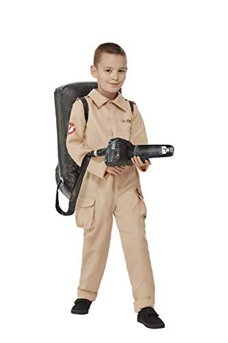 Smiffys Disfraz infantil 52569M con licencia oficial de los Cazafantasmas para niños, beige, tamaño mediano, edad de 7 a 9 años