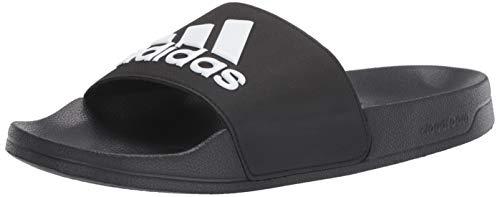 adidas Men's Adilette Shower Slide, Core Black/White/Core Black, 12