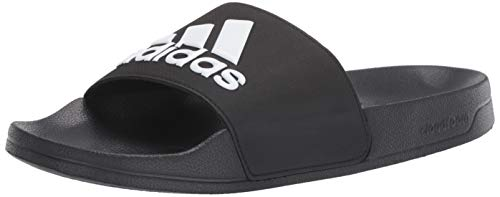 Image of the adidas Men's Adilette Shower Slides, Black/White/Black, 5 M US
