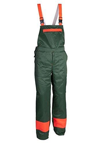 Professionele kettingzaag bescherming KWF Dungarees met snijbescherming Bos Broek, 106, Grün orange, 500
