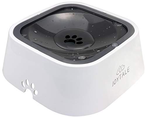 Joytale Auslaufsicherer Wassernapf für Haustiere, rutschfest Hund und Katze Wasserschale,1000ML,Grau