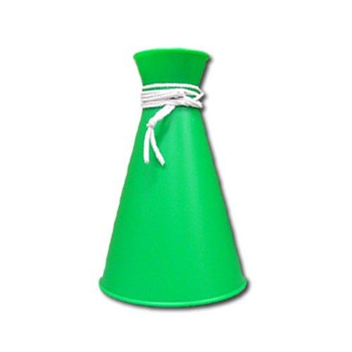 [プロモ] ミニ メガホン (緑色) コンパクトサイズ [野球 サッカー スポーツ 応援 グッズ] 体育祭 イベント