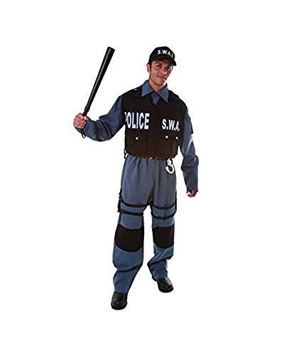 Dress Up America Adulto De Lujo S.W.A.T Polica Officer Disfraz
