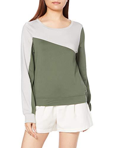 [プーマ] クルーネックシャツ クラウドスパン カラーブロック クルー レディース タイム US S (日本サイズM相当)
