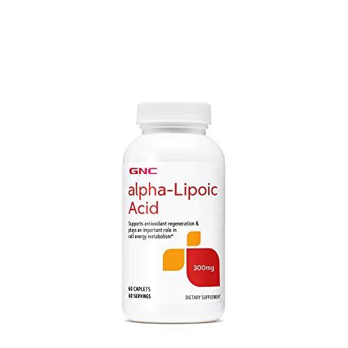 GNC Alpha-Lipoic Acid 300mg, 60 Caplets, Supports Antioxidant Regeneration and Cell Energy Metabolism