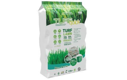 TURFquick Schattenrasen, Rasenmatte, Rasenvlies, Matte mit integrierten Rasensamen, für eine einfache Aussaat und zur Hangbefestigung- 0,8m x 12,5m (10m²)