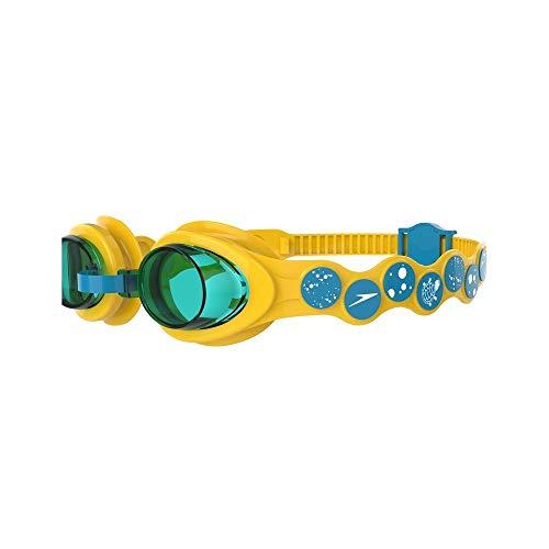 Speedo Kinder Schwimmbrille Sea Squad Goggles, Gelb/Türkis/Blau, Einheitsgröße