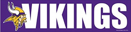WinCraft NFL Minnesota Vikings Decal Bumper Sticker, Team Color, One Size