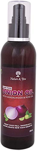 Nature & You Onion Hair Oil Nourishing Hair With Real Onion Extract (200 ml) Pack of 2