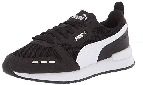 PUMA mens R78 Sneaker, Black/White, 10.5 Women 12...