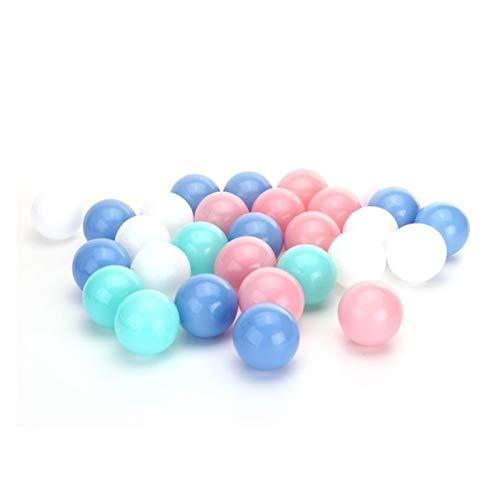 JINSUO 25/50/100 unids Mezcla Color Bola de Foso de plástico Seguro niños Pastel Multi Colorido combinación Bolas oceánico Pelota mezclada Pelota Paquete de Pelota Suave Juguete (Color : B 50pcs)