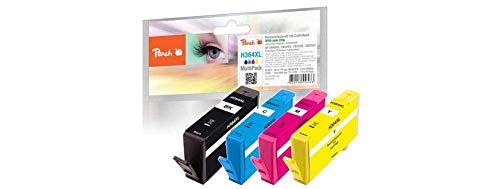 Peach H364XL bk, c, m, y Spar Pack Druckerpatronen mit Chip kompatibel zu HP Nummer 364XL, PI300-295, Cyan