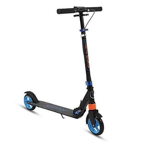 Kick Scooter, Glide Scooter para niños de 10 años en adelante / Adultos + Neumáticos grandes + Altura ajustable con frenos delanteros, Ruedas inflables, Estructura de acero, Tabla de pie ancha No re