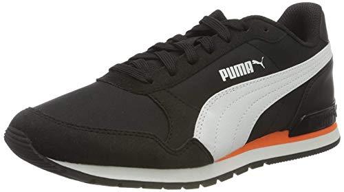 Puma Unisex-Erwachsene St Runner V2 Nl Sneaker, Black White Dragon Fire, 43 EU