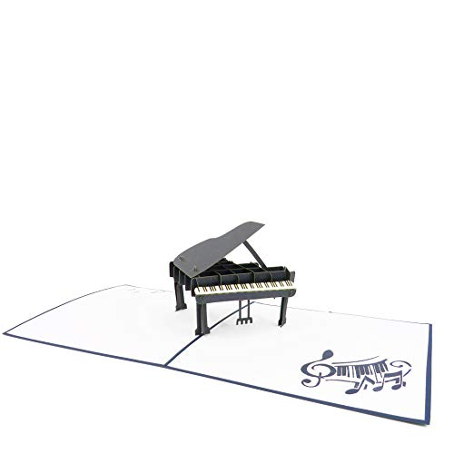 Grand Piano Pop Up Card for All Occasions - Happy Birthday, Graduation, Congratulations, Retirement, Fathers Day, Mothers Day - Musicians, Pianists, Music Lovers  Pop Card Express