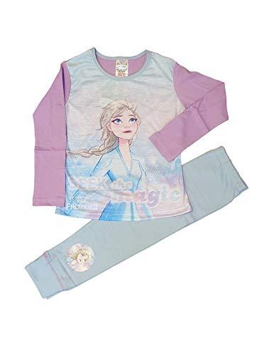 TDP Textiles Disney Die Eiskönigin II ELSA Anna und Olaf Baumwoll-Pyjama, Alter 4–10 Jahre Gr. 9-10 Jahre, Frozen - Violett (33796)