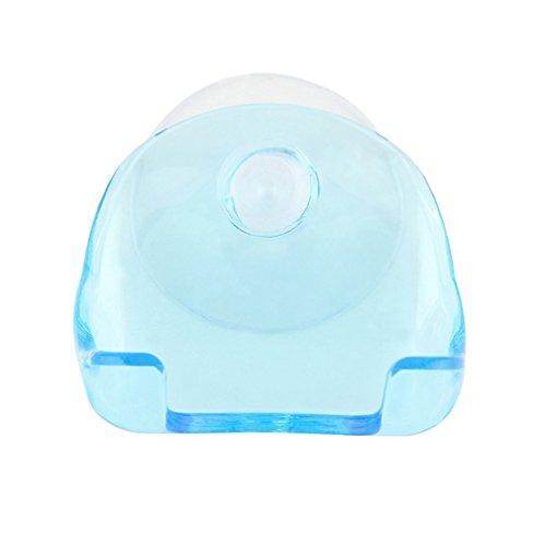 YLWL Montado en la Pared PP no tóxico y Caucho Azul Claro para Hombre afeitadora de baño Herramientas de Soporte de maquinilla de Afeitar Cupula Shaver Caps Rack con Ventosa