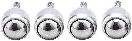 XINKONG Industrie-Rollen (4 Stück) mit Carbon-Stahl Universal-Kugel CY19D Kugellager for Werkzeugmaschinen Universal-Stier-Augen-Rad (Size : 12D)