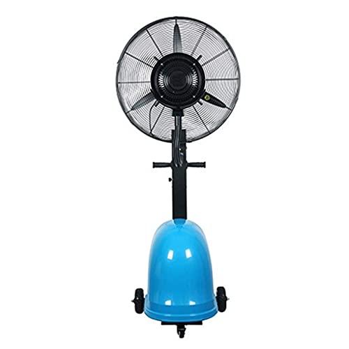 yanzz Ventiladores Ventilador de Servicio Pesado Potente nebulización Ventilador de enfriamiento Soporte de Piso Ventilador oscilante Enfriamiento 3-8 Grados; Ventilador Industrial de Alta potenci