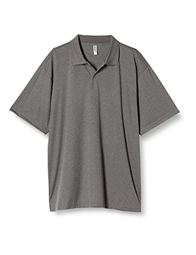 [グリマー] 半袖 4.4オンス ドライ ポロシャツ [UV カット] 00302-ADP ミックスグレー S (日本サイズS相当)